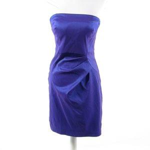Calvin Klein purple strapless dress 4